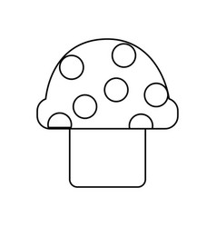 Video game mushroom entertaining element play vector