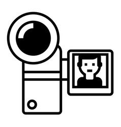 video recording line icon sign vector image