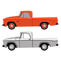 vintage car profile side vector image