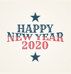 vintage happy 2020 new year banner for your vector image
