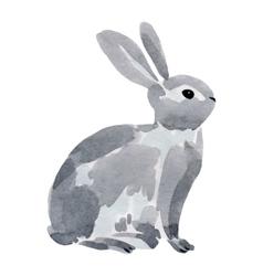 watercolor a rabbit vector image