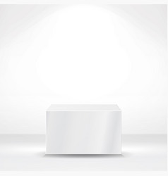 white square pedestal or platform empty podium vector image