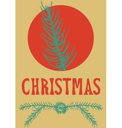 xmas card christmas greeting hand drawn lettering vector image