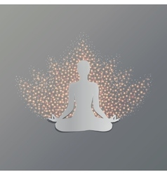 Yoga asana lotus vector image