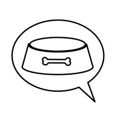 dog dish pet accesory vector image