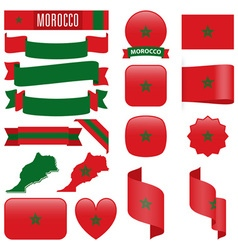 Morocco flags vector image vector image