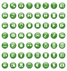 musical icon set vector image