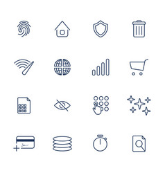 simple internet icons set universal internet vector image