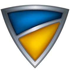 steel shield with flag ukraine vector image