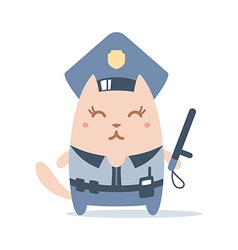 Character police in officers cap and in the form vector image