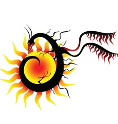 dragon sun vector image