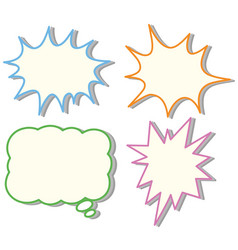 four colorful speech bubble templates vector image vector image
