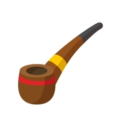 Tobacco pipe cartoon icon vector image