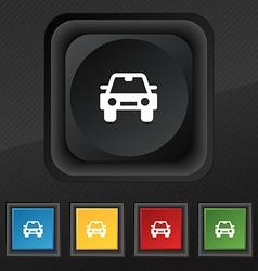Auto icon symbol Set of five colorful stylish vector image