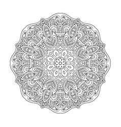 mandala eastern pattern zentangl coloring round vector image vector image