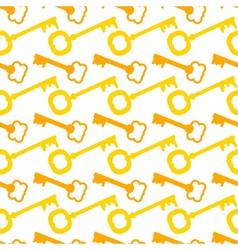Seamless pattern with gold keys vector image
