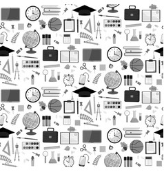 seamless school pattern on a white background vector image