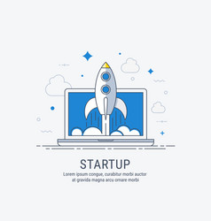 startup for web vector image