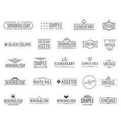 vintage minimal logos with simple shapes vector image