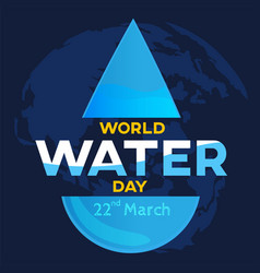 world water day on map world background greeting vector image vector image