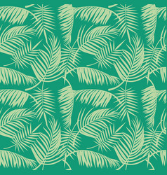 beach seamless pattern with tropical palm vector image