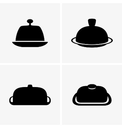 Butter dishes vector image vector image