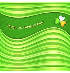 Green Patricks Day abstract background card vector image vector image