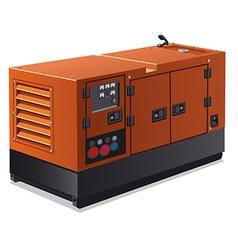 industrial power generator vector image vector image
