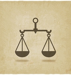 scales justice symbol old background vector image vector image