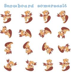 A set of stuffed bear toys cartoons for a game vector