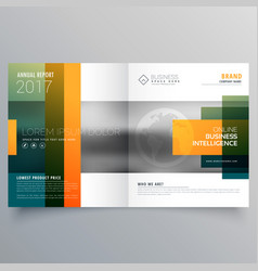 Abstract creative bi fold brochure template or vector
