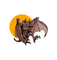 Bat Monster Retro vector