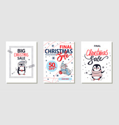 big christmas sale posters vector image