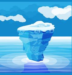 big iceberg and ocean ice in sea vector image