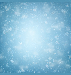 Blue christmas snowflakes background eps 10 vector