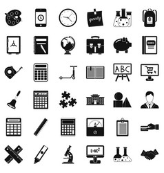 Calculator icons set simple style vector