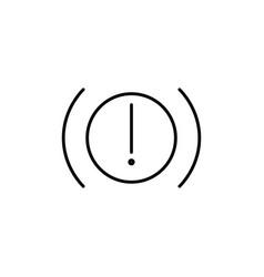 car brakes warning icon vector image