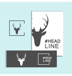 Christmas deer head vector
