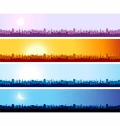 cityscape background urban art vector image