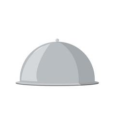 Cloche food plate restaurant vector