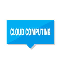 Cloud computing price tag vector