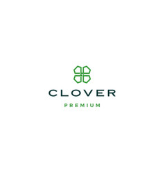 clover leaf logo icon vector image