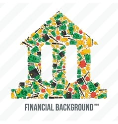 Collage From Financial Elements vector