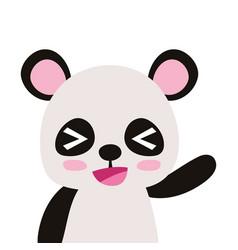 Colorful adorable and cheerful panda wild animal vector