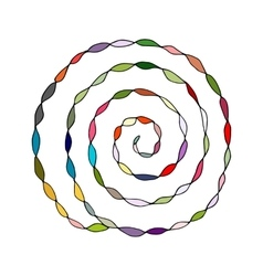 Colorful spiral pattern sketch for your design vector image