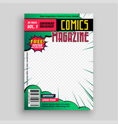 Comic book cover page design vector