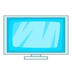 Computer display icon cartoon style vector image