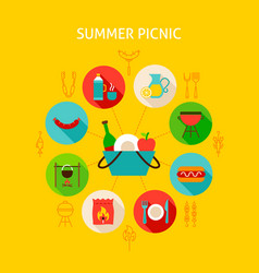 concept summer picnic vector image