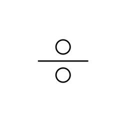 divide icon vector image