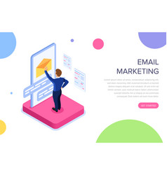email marketing concept with characters can use vector image